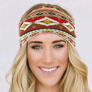 Aztec headband with boho tribal southwest design